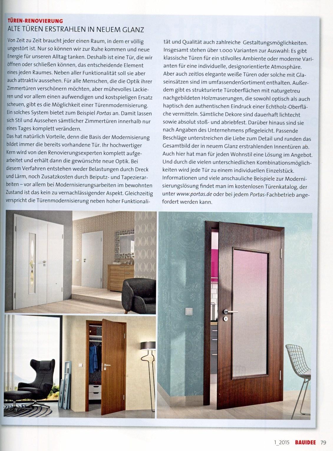 wohnzeitschriften berichten über die portas-lösungen – portas