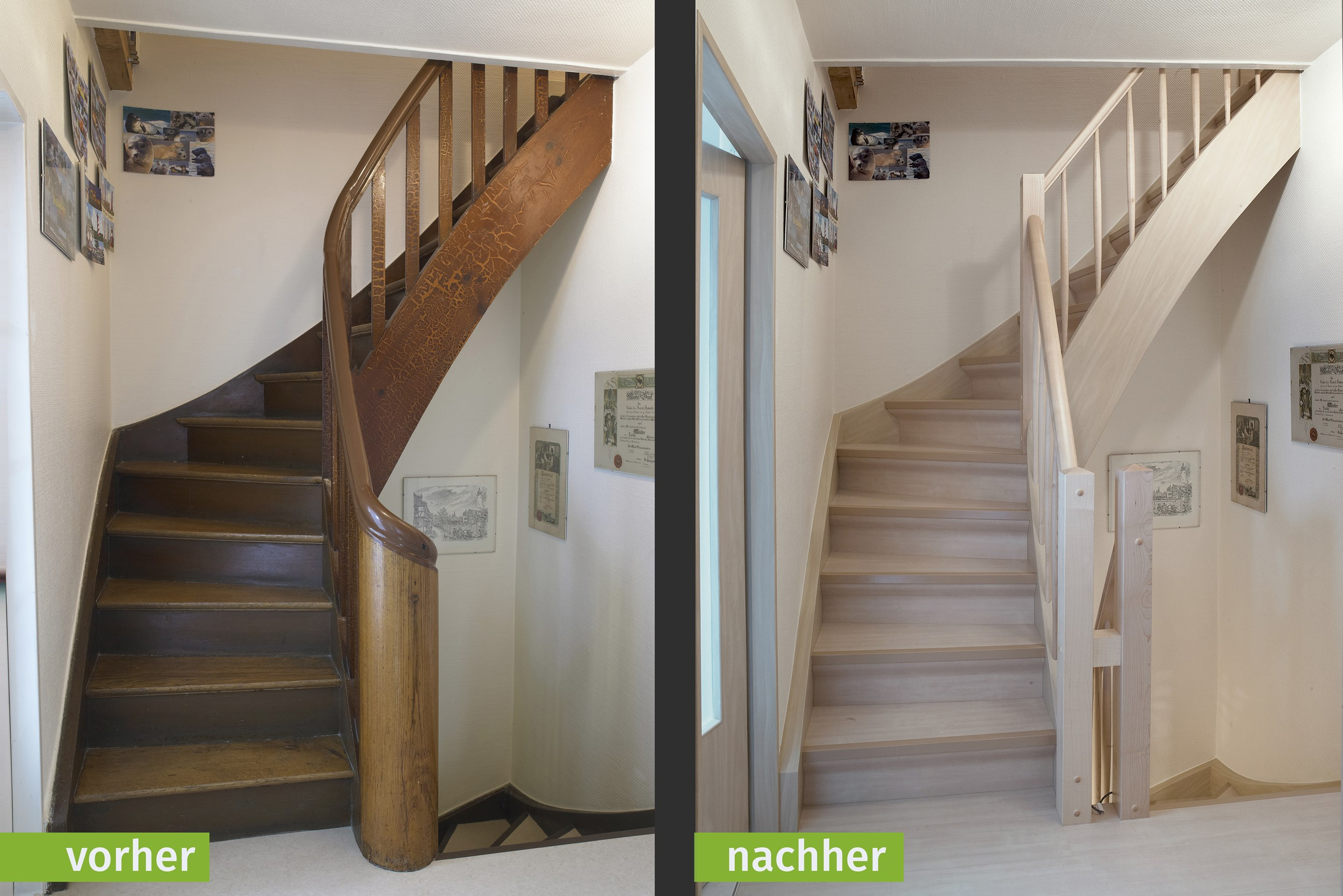 kundenbeispiele treppenrenovierung – portas renovierung